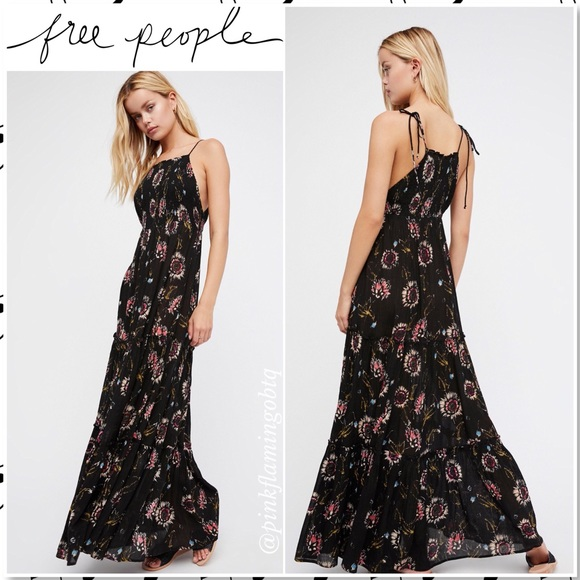 41120a6bc5a ⬇️$65 NWT Free People Garden Party Maxi DressBlack NWT